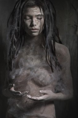 dirty zombie woman