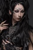 Woman dark elf warrior