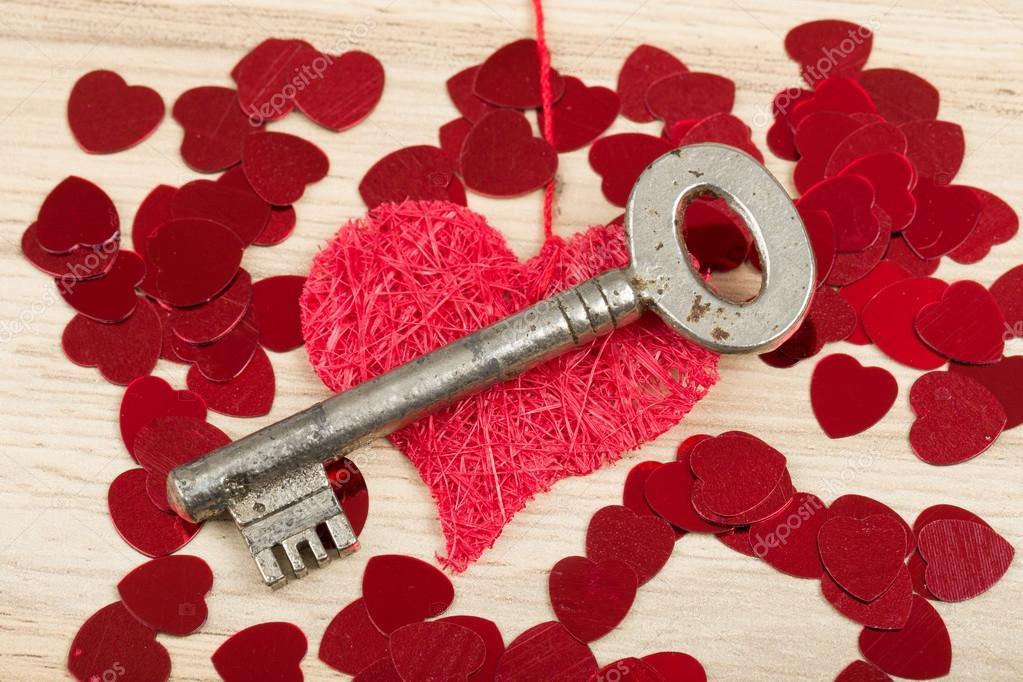 Key With The Heart Symbol Of Love Stock Photo Artush 95323862
