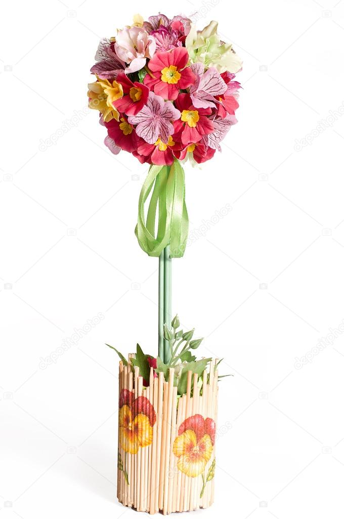 Floral Topiary With Artifitial Pansies Stock Photo C Mamasita 73308399