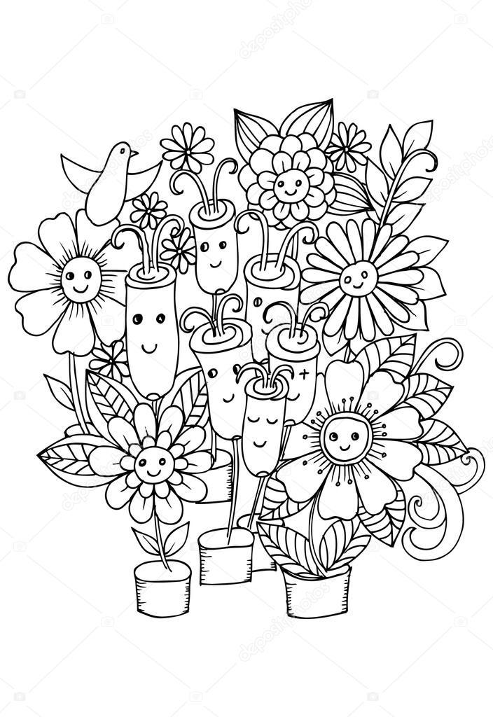 Imágenes: jarrones sin flores para colorear | Floreros de flores ...