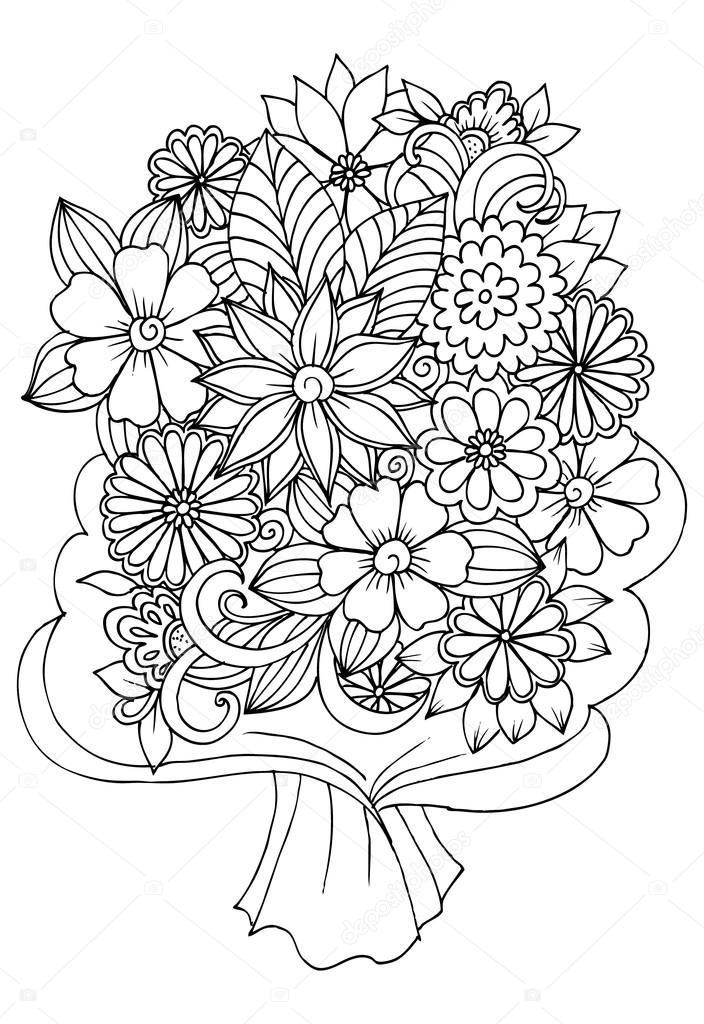 Mazzo Di Fiori Vector.Bouquet Of Flowers Stock Vector C Emila1604 124061450