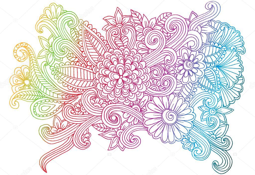 Flower wallpaper drawing