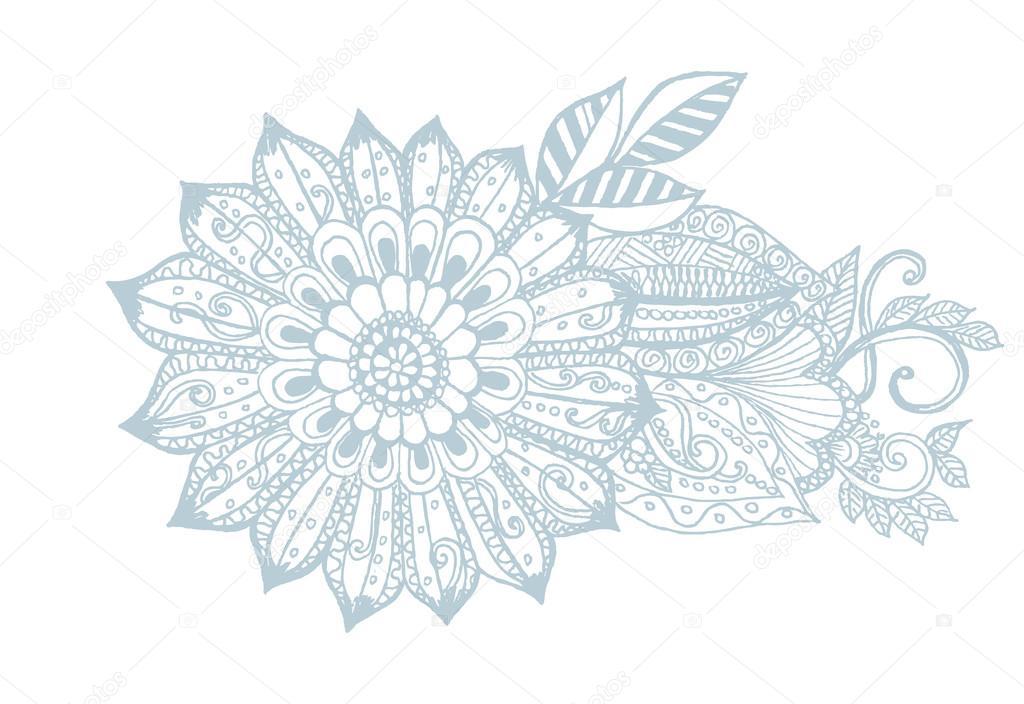 Vektor Doodle Blumenstrauß Stockvektor Emila1604 97703632