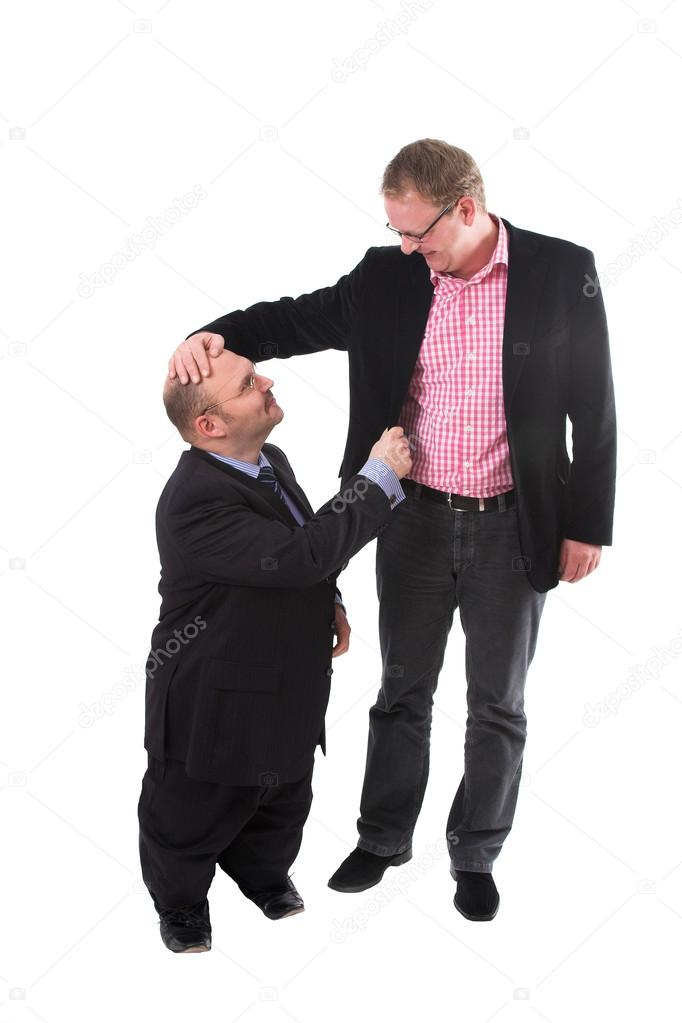 tall man with small hands