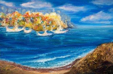 Seascape ocean shore