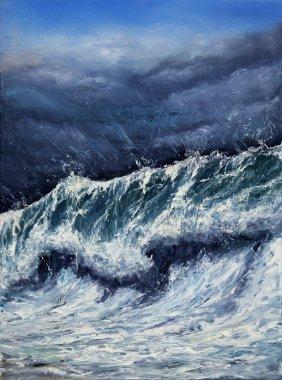 Storm in ocean or sea