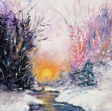 Winter or Christmas landscape