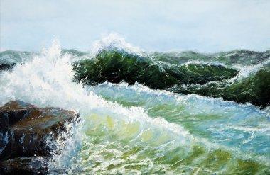 Storm in ocean