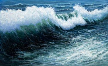 """Картина, постер, плакат, фотообои """"Шторм в океане"""", артикул 92856780"""