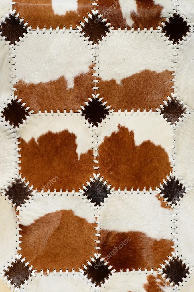 Dettaglio da tappeto di pelle di mucca — Foto Stock ...