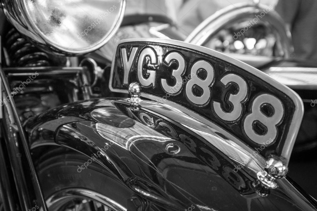 Vintage Motorbike number plate. – Stock Editorial Photo © lucielang ...