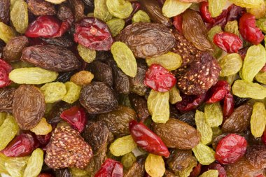 Background of dried fruit mix