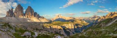 Panorama of Famous Tre Cime di Lavaredo, Dolomites Alps, Italy,