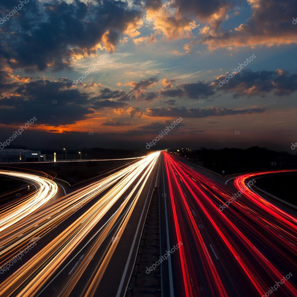 Long Exposure Traffic - abstract urban background
