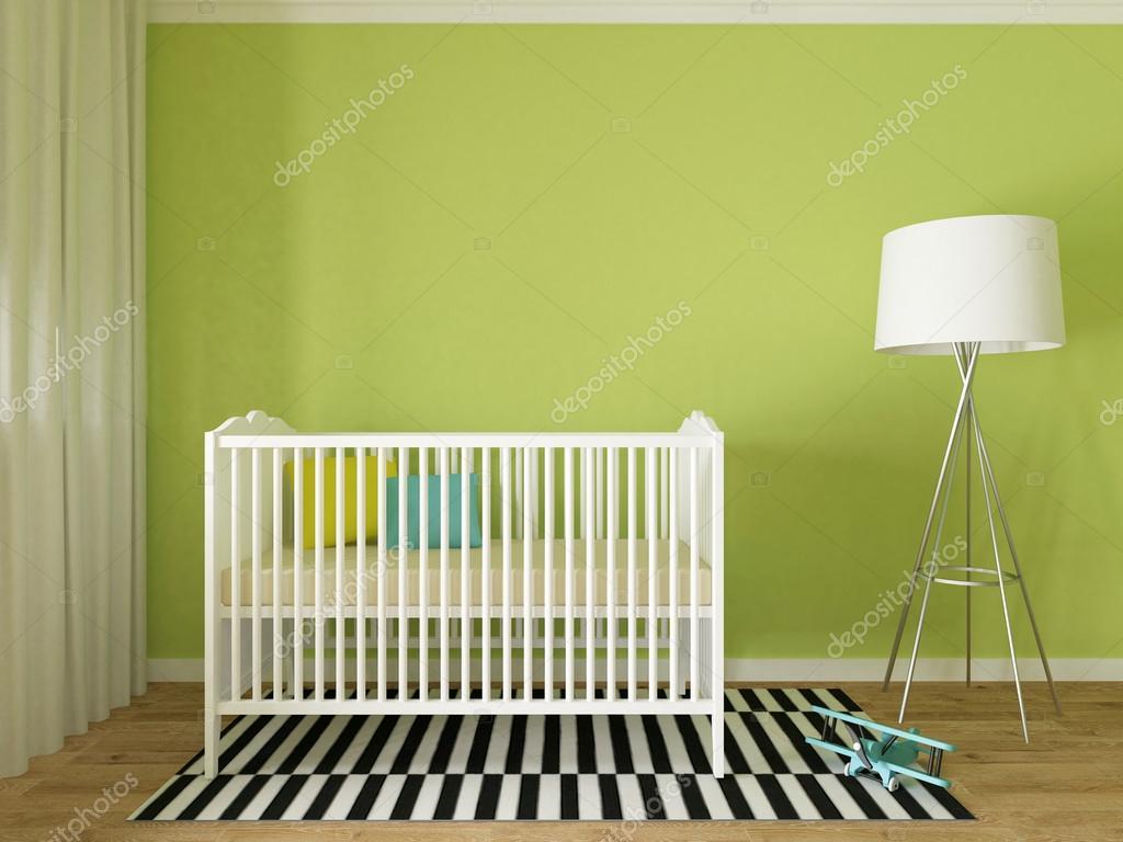 Interior, sala de bebé vivero — Foto de stock © zuzulicea #81375912