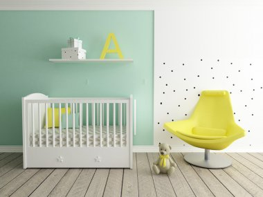 nursery interior, baby room