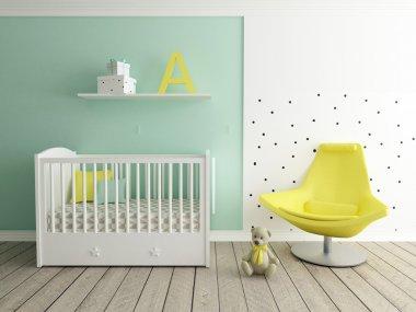 Nursery interior, baby room