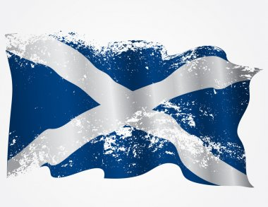 Scotland or Scottish grunge flag