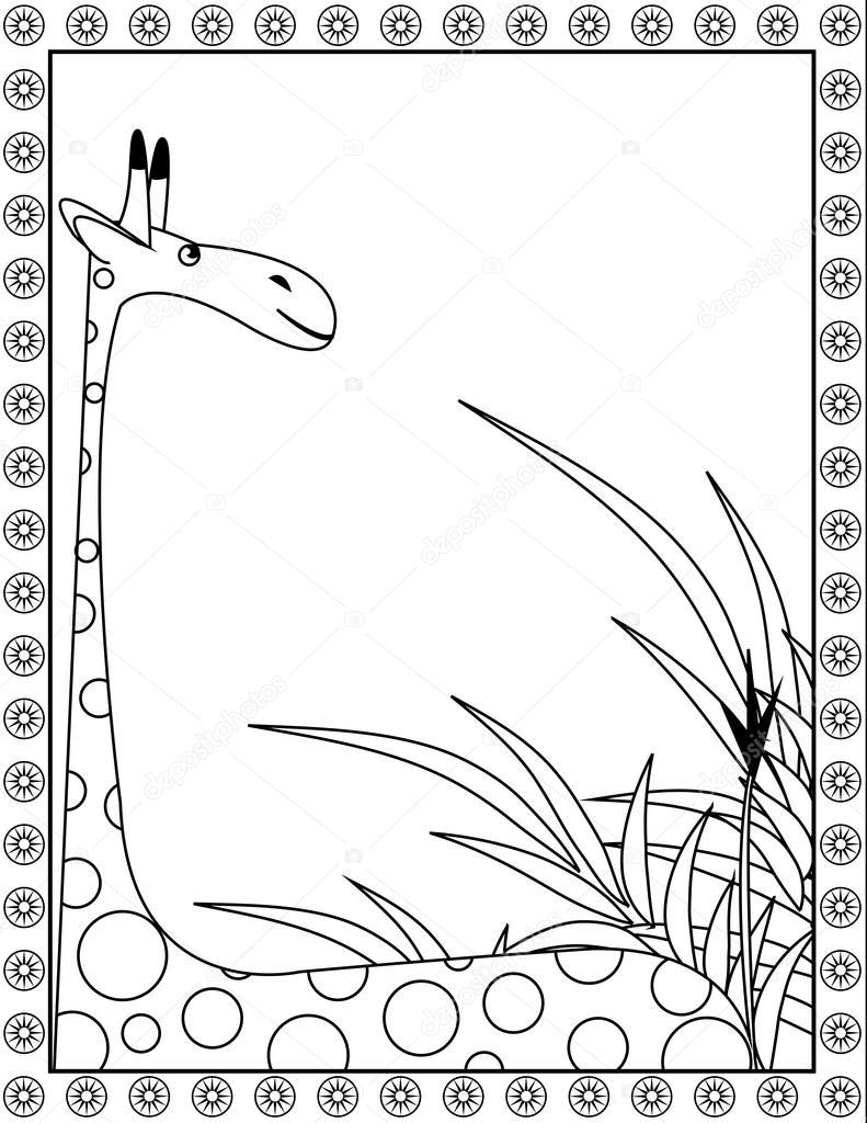 Zürafa Boyama Stok Vektör Irinavk 84907262