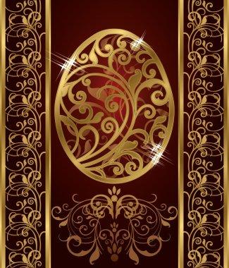 Golden Easter egg, vector illustration