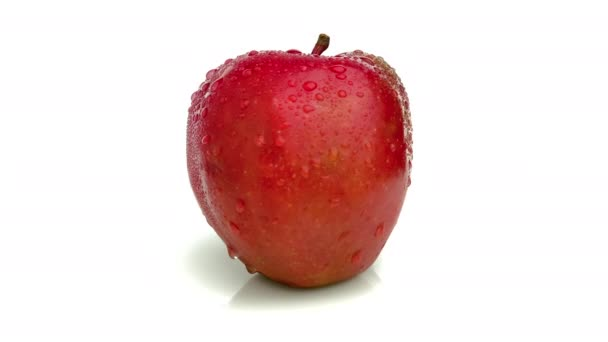 red delicious apple isolated on white background