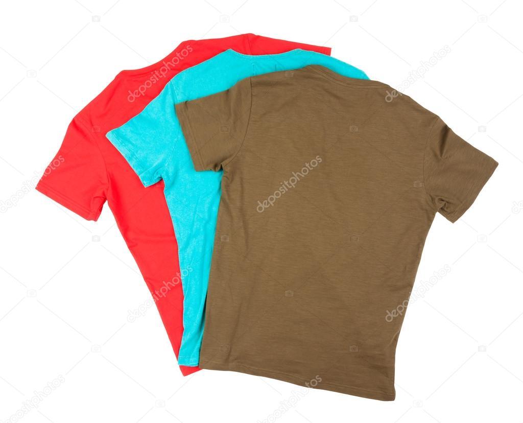 best service d3fc4 c18e5 Colorful cotton t-shirts — Stock Photo #66793213