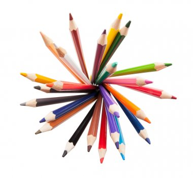 Color pencils isolated