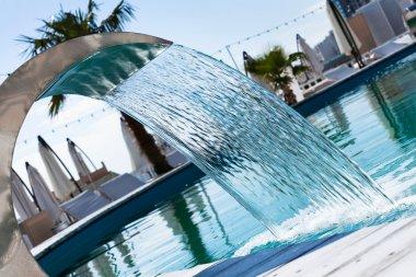 Waterfall jet pool