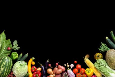 Deluxe food background. Food photography different fruits and vegetables.