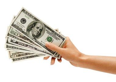 Hand is giving money