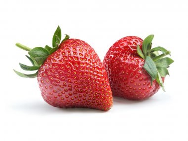 Perfect strawberry on white background.