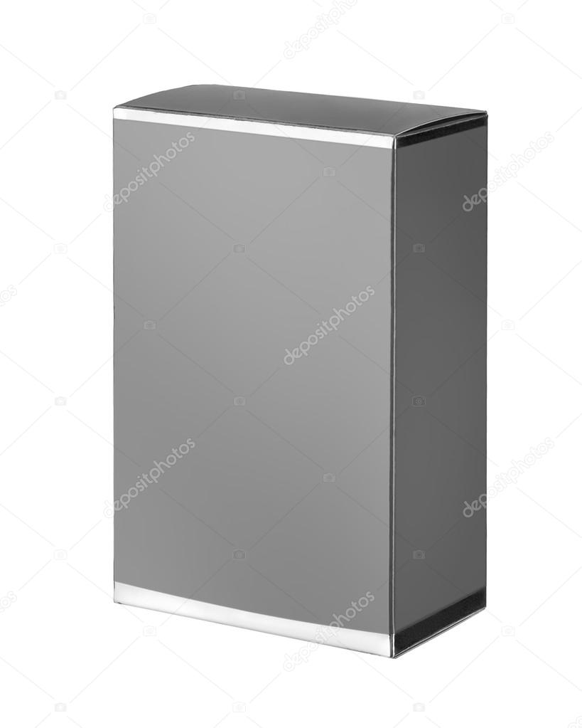 Light gray cosmetic packaging box