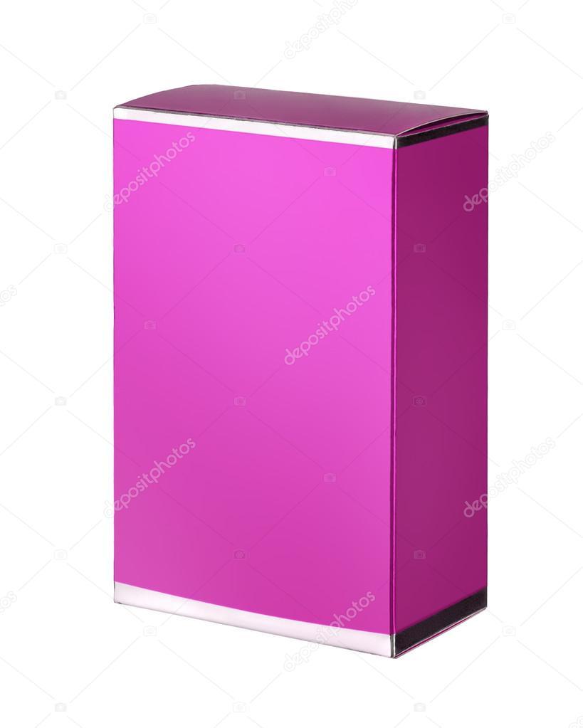 Purple cosmetic packaging box