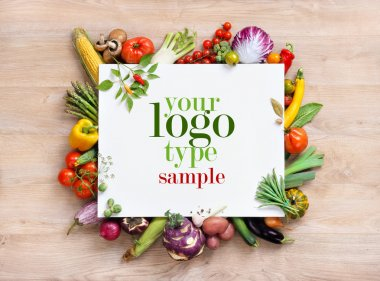 Healthy food background and Copy space