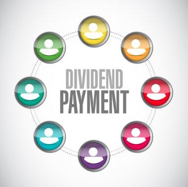 dividend payment people diagram sign concept