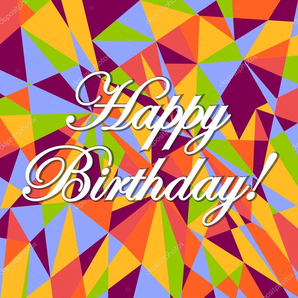 alles Gute zum Geburtstag Farben rosa Karte Muster — Stockfoto ...