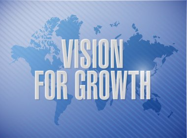 vision for growth world map sign business concept