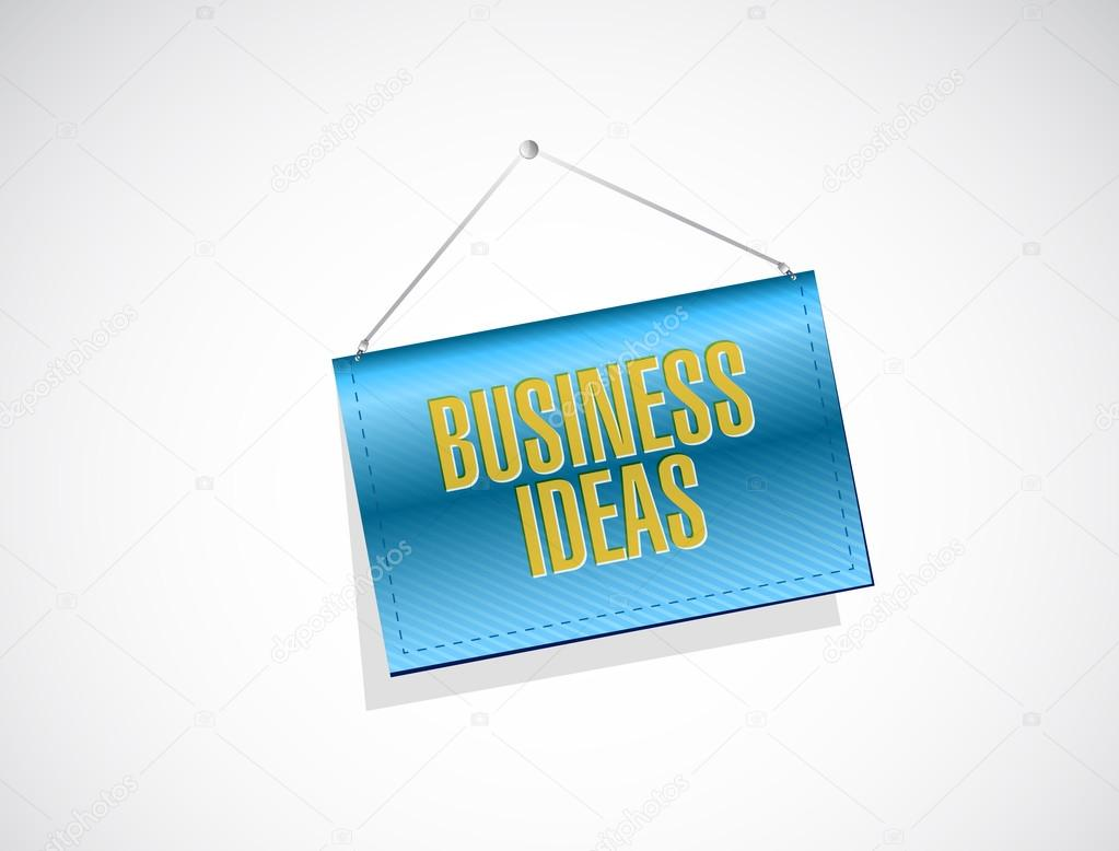 business ideas banner sign concept — Stock Photo © alexmillos #117978704