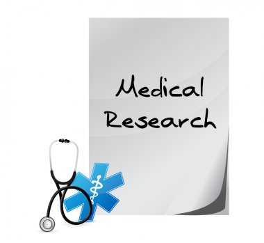 Medical research documents isolated sign