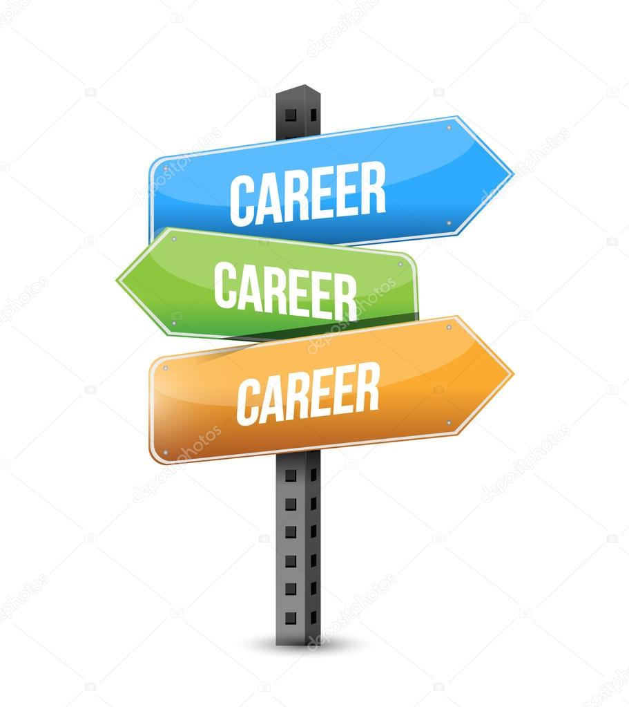 career, career and career road sign