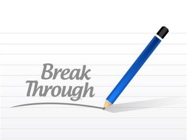 break through message illustration design