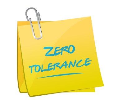 zero tolerance memo illustration design