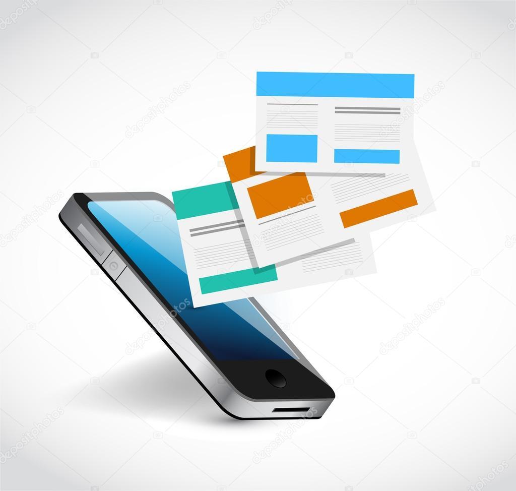 teléfono y navegadores plantillas ilustración diseño — Foto de stock ...