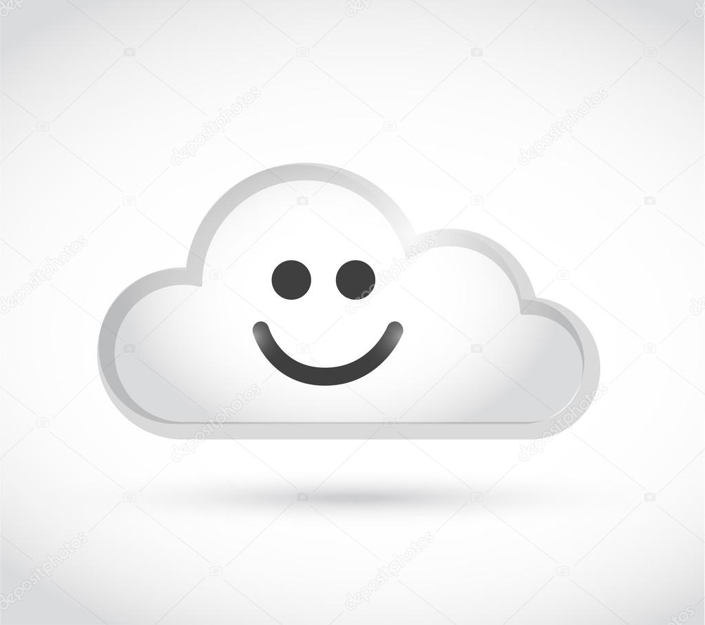 Cloud Computing Smiley Face Illustration Design Stock Photo