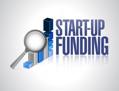 start-up funding business sign illustration design