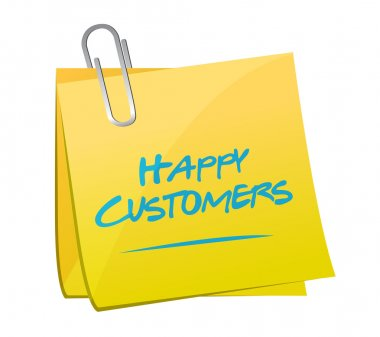 happy customers memo illustration design