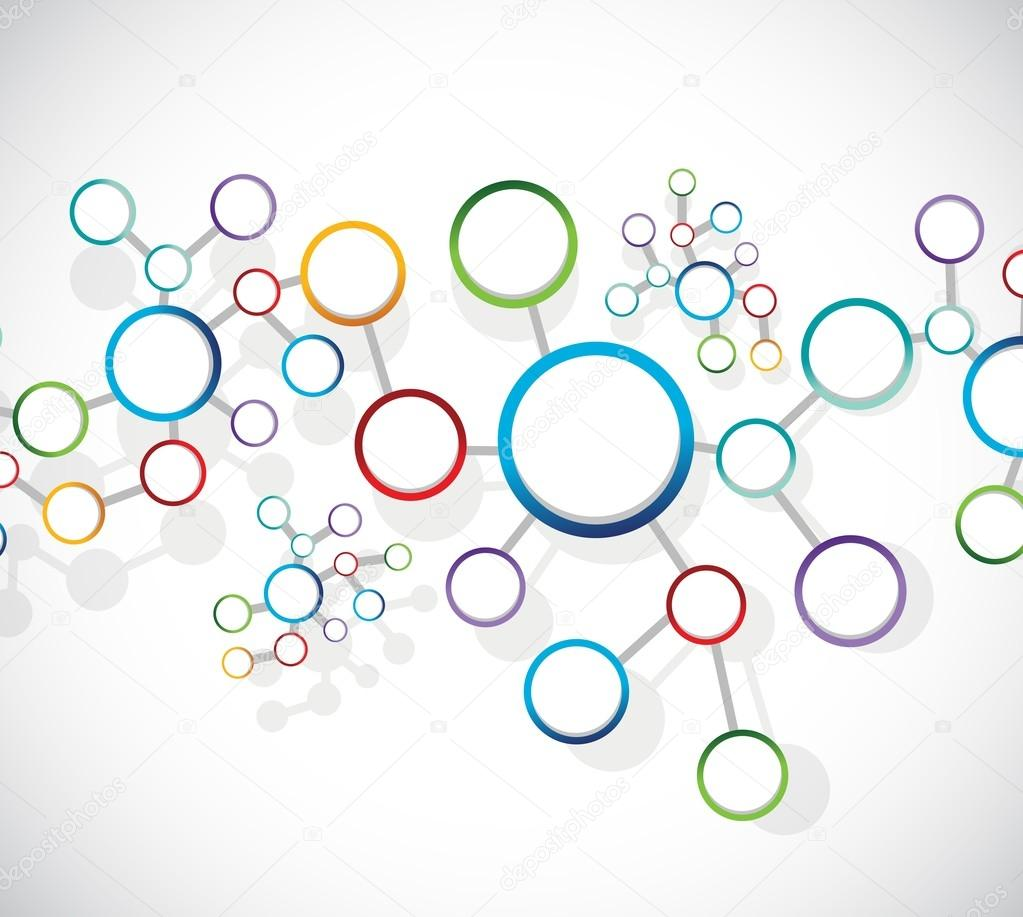 atoms diagram link network connection — Stock Photo © alexmillos ...