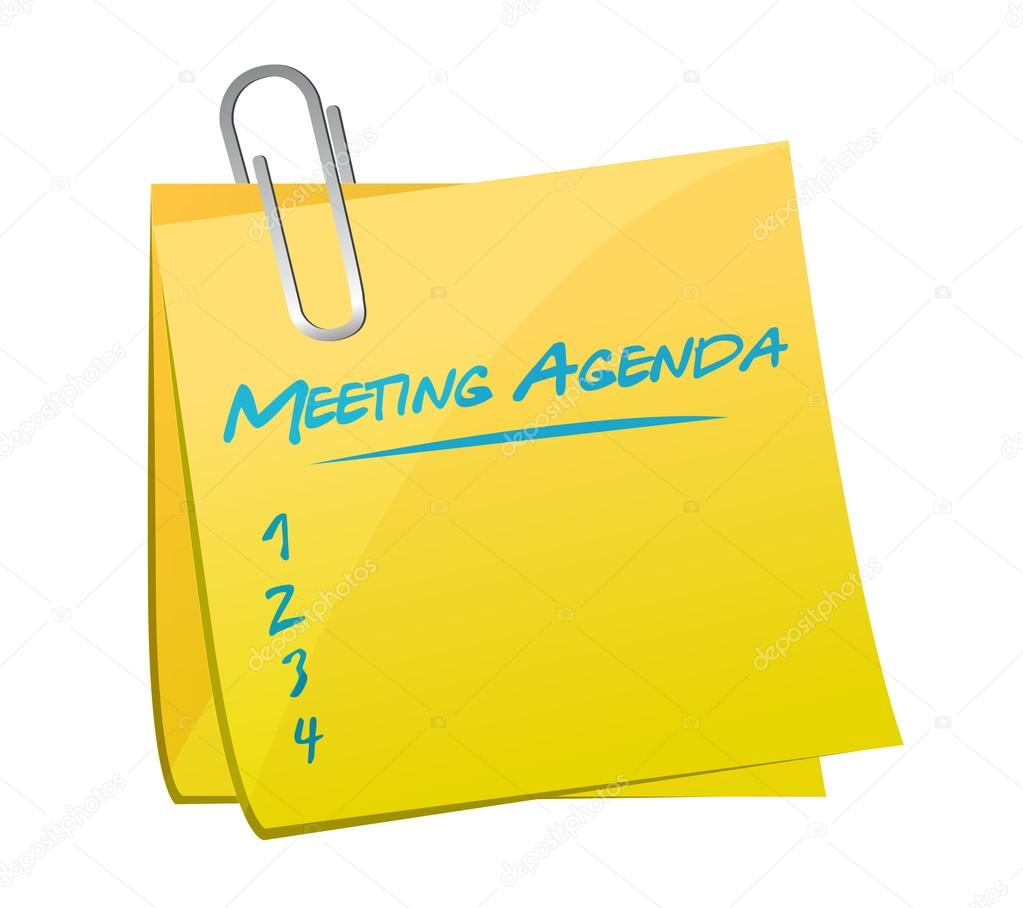 Ilustración de nota de agenda de reunión — Fotos de Stock ...