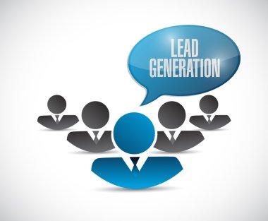 Lead generation people sign illustration